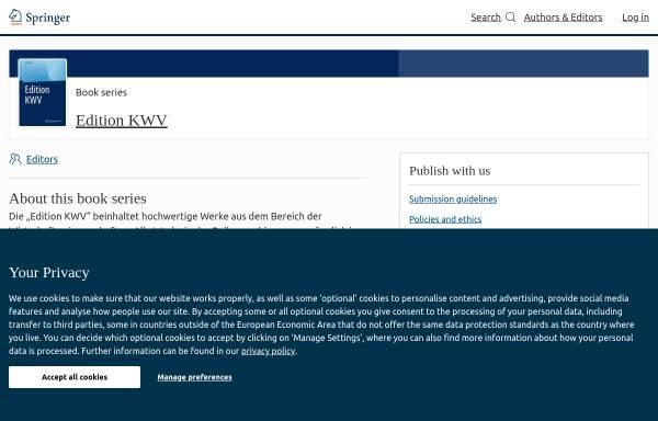 Vorschau von www.koelnerwissenschaftsverlag.de, Kölner Wissenschaftsverlag - Albers, Peters & Dr.Reihlen GbR