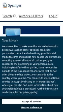 Vorschau der mobilen Webseite www.koelnerwissenschaftsverlag.de, Kölner Wissenschaftsverlag - Albers, Peters & Dr.Reihlen GbR