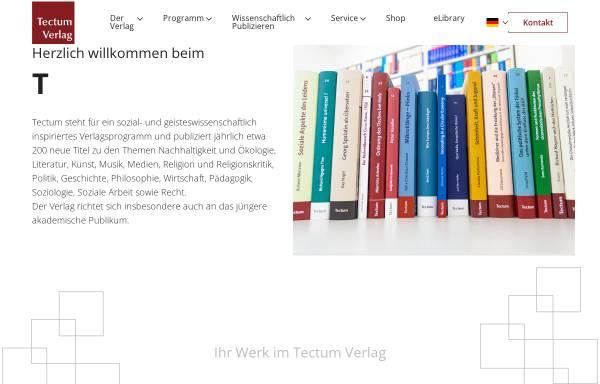Vorschau von www.tectum-verlag.de, Tectum Verlag
