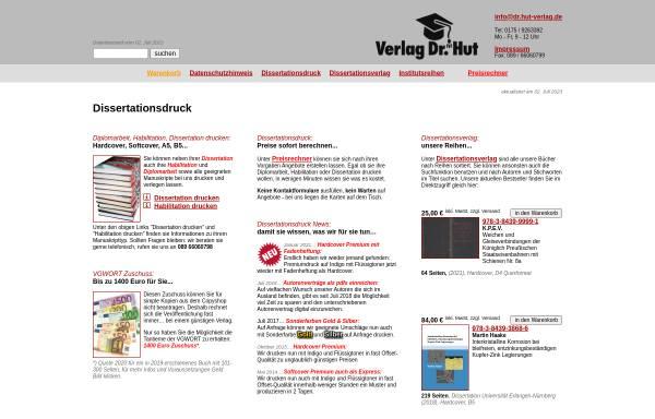 Vorschau von www.dr.hut-verlag.de, Verlag Dr. Hut München