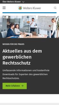 Vorschau der mobilen Webseite www.werner-verlag.de, Werner Verlag GmbH & Co. KG