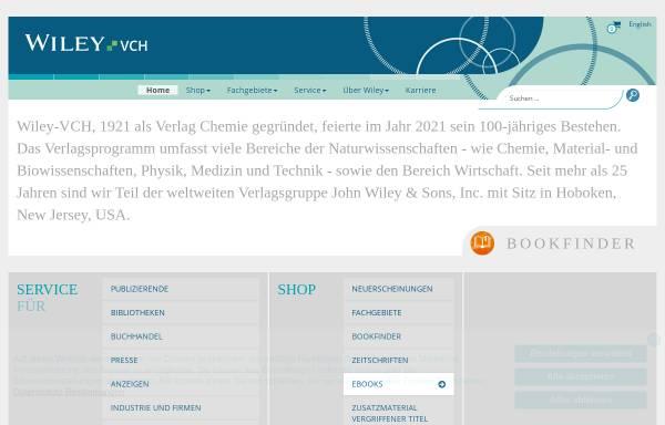 Vorschau von www.wiley-vch.de, Wiley-VCH Verlag GmbH & Co. KGaA
