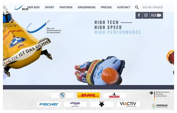 Vorschau von www.bsd-portal.de, Bob- und Schlittenverband für Deutschland e.V.