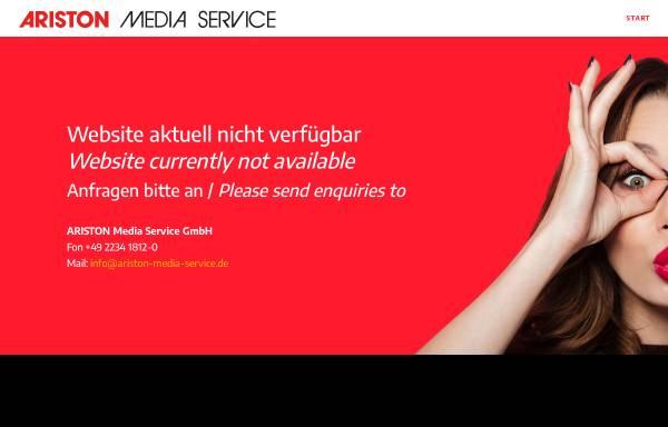 Vorschau von www.ariston-media-service.de, Ariston Media Service GmbH