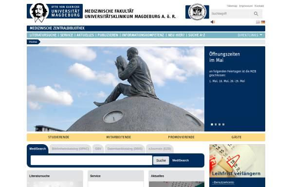 Vorschau von www.med.uni-magdeburg.de, Medizinische Zentralbibliothek Magdeburg
