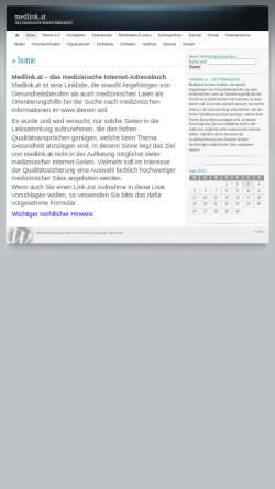 Vorschau der mobilen Webseite www.medlink.at, Medizinisches Internet-Adressbuch für Ärzte und Laien