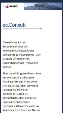 Vorschau der mobilen Webseite www.ee-consult.com, Haucke, Thomas