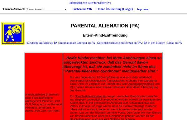Vorschau von www.vaeterfuerkinder.de, PAS Übersicht