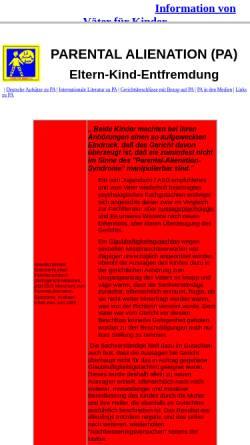 Vorschau der mobilen Webseite www.vaeterfuerkinder.de, PAS Übersicht