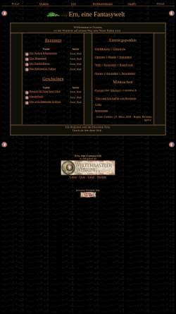 Vorschau der mobilen Webseite erynnia.de, Ern, eine Fantasywelt