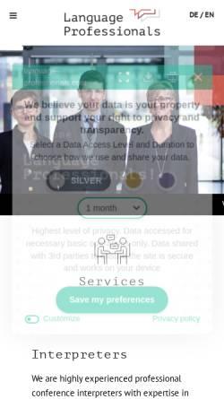 Vorschau der mobilen Webseite www.language-professionals.de, Language Professionals
