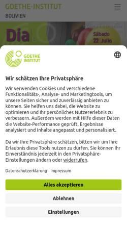 Vorschau der mobilen Webseite www.goethe.de, Goethe-Institut La Paz