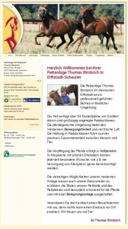 Vorschau der mobilen Webseite www.reitanlage-birnbrich.de, St. Georg-Reitanlage