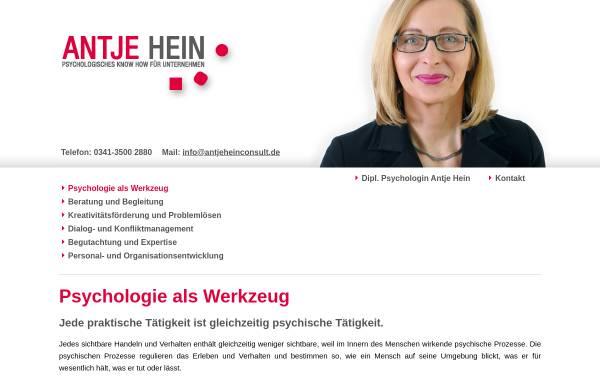 Vorschau von www.antjeheinconsult.de, Dipl.-Psychologin Antje Hein