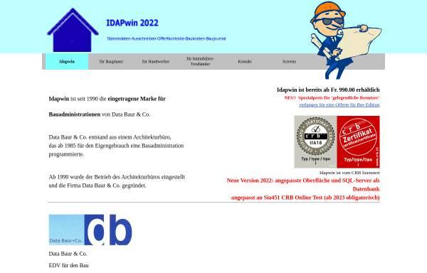 Vorschau von www.databaur.ch, EDV für den Bau