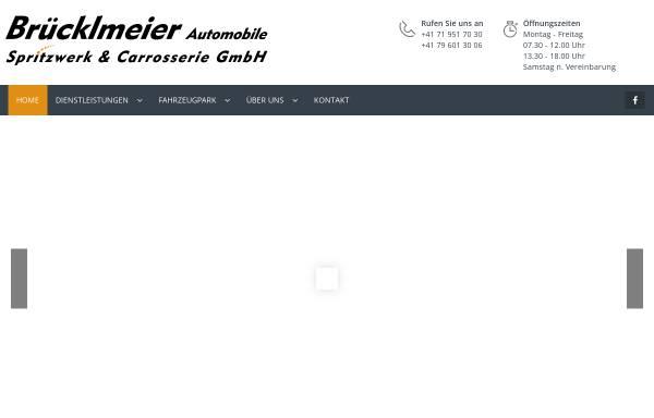 Vorschau von www.bruecklmeier.ch, Garage Brücklmeier - Spritzwerk & Automobile