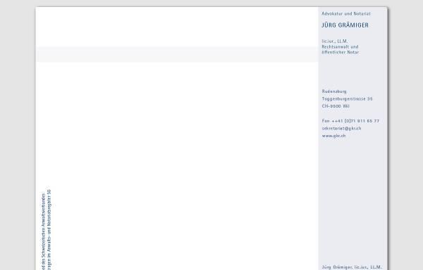 Vorschau von www.gkr.ch, Grämiger & Koch Rechtsanwälte