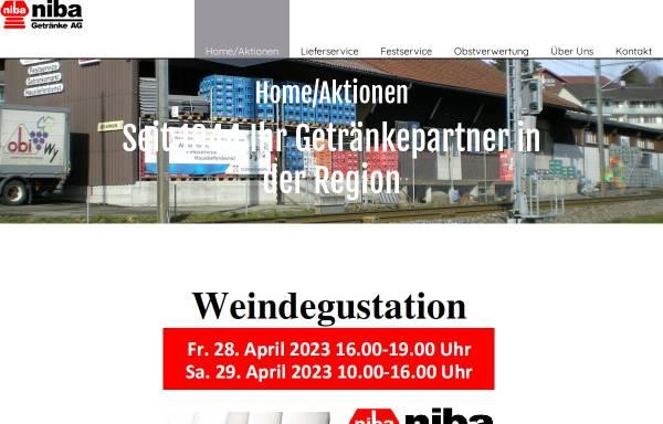 Vorschau von www.niba.ch, Niba Getränke AG