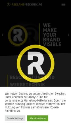 Vorschau der mobilen Webseite www.reklametechnik.ch, Reklame Technik AG
