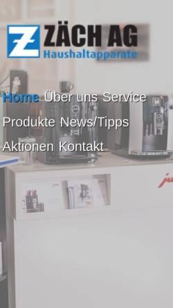 Vorschau der mobilen Webseite www.tumblersepp.ch, Tumblersepp Haushaltsapparate