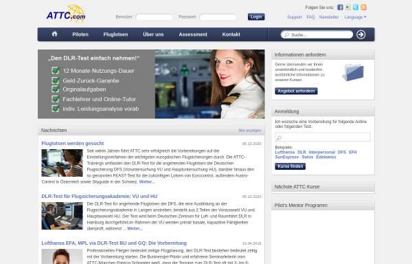 Vorschau von www.attc.de, ATTC Airline Test Training Center