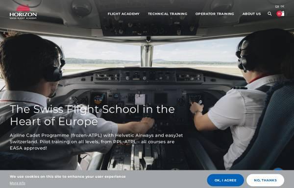 Vorschau von www.horizon-sfa.ch, Horizon Swiss Flight Academy