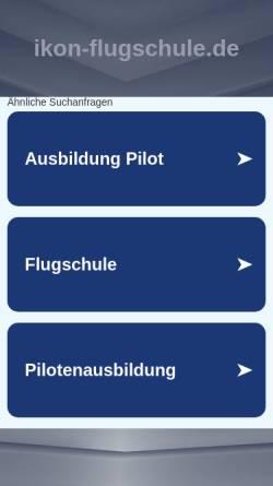 Vorschau der mobilen Webseite www.ikon-flugschule.de, IKON GmbH