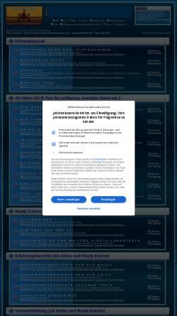 Vorschau der mobilen Webseite www.pilotenboard.de, Informationen über Einstellungstests für Piloten und Fluglotsen