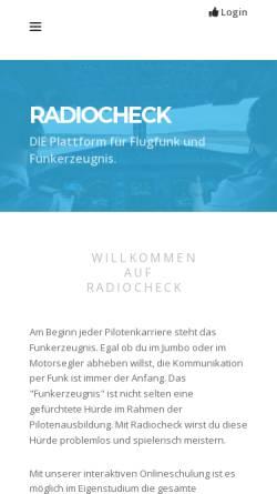 Vorschau der mobilen Webseite www.radiocheck.at, Radiocheck