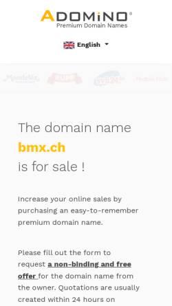Vorschau der mobilen Webseite www.bmx.ch, BMX