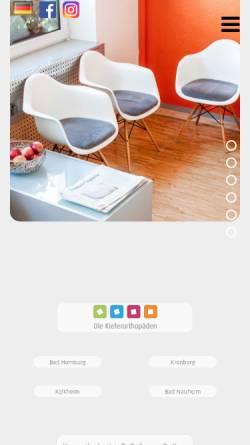 Vorschau der mobilen Webseite www.rathenow-kfo.de, Kieferorthopädische Praxis Dr. Rathenow