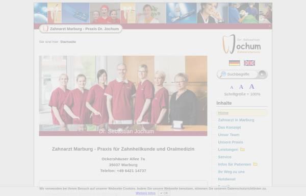Vorschau von www.zahnarzt-dr-jochum.de, Zahnärztliche Gemeinschaftspraxis Dr. Christoph Jochum & Dr. Sebastian Jochum