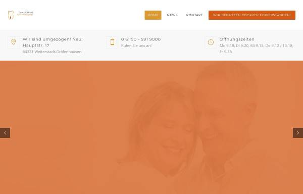 Vorschau von www.zahnarzt-graefenhausen.de, Zahnarztpraxis Wingenter
