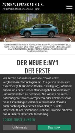 Vorschau der mobilen Webseite www.honda-rein.de, Autohaus Honda Rein