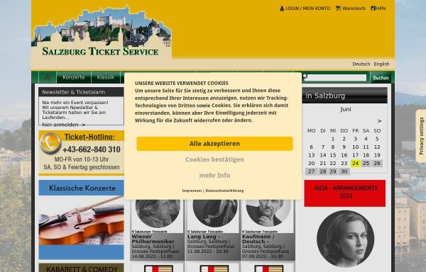 Vorschau von www.salzburgticket.com, Salzburg Ticket Service