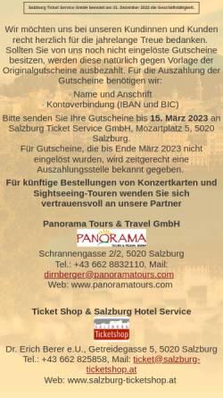 Vorschau der mobilen Webseite www.salzburgticket.com, Salzburg Ticket Service