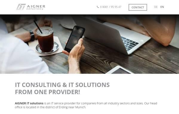 Vorschau von www.aigner-itsolutions.de, Aigner iT solutions - Simon Aigner