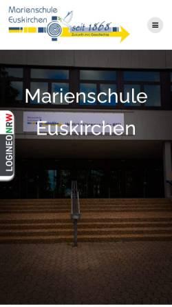 Vorschau der mobilen Webseite www.mseu.de, Marienschule Euskirchen