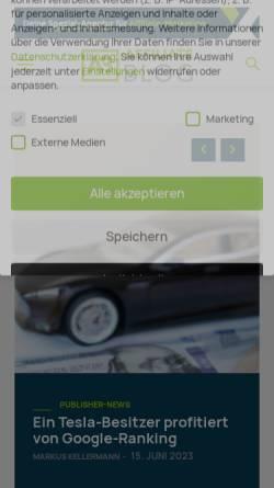 Vorschau der mobilen Webseite www.affiliateboy.de, Affiliateboy Markus Kellermann
