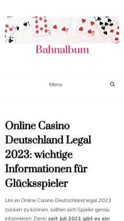 Vorschau der mobilen Webseite www.bahnalbum.de, Das Bahnalbum