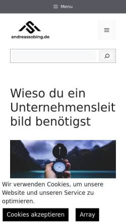 Vorschau der mobilen Webseite www.andreassobing.de, Andreas Sobing