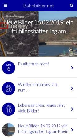 Vorschau der mobilen Webseite www.bahnbilder.net, Bahnbilder.net