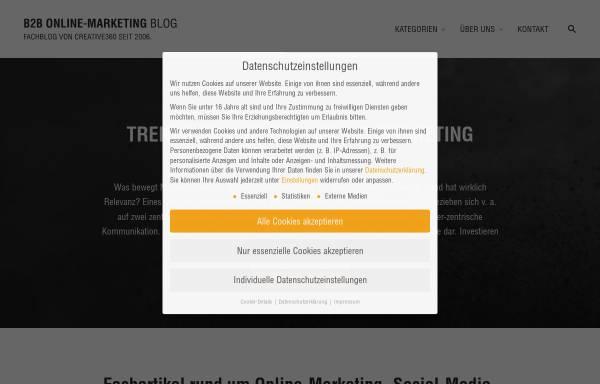 Vorschau von www.onlinemarketing-blog.de, B2B Online-Marketing Blog