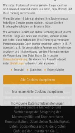 Vorschau der mobilen Webseite www.onlinemarketing-blog.de, B2B Online-Marketing Blog