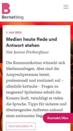 Vorschau der mobilen Webseite bernetblog.ch, Bernetblog