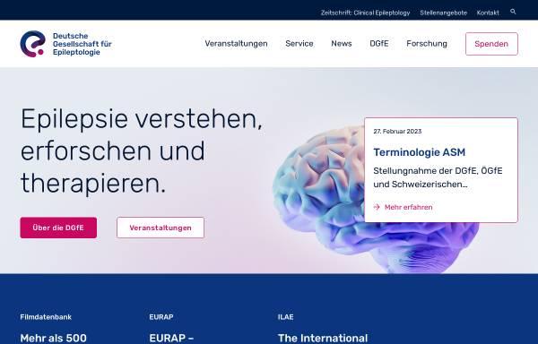 Vorschau von www.dgfe.info, Deutsche Gesellschaft für Epileptologie