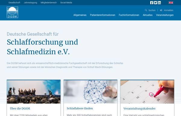Vorschau von www.dgsm.de, Deutsche Gesellschaft für Schlafforschung und Schlafmedizin