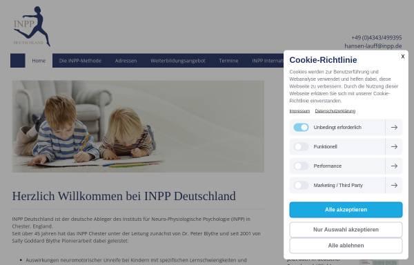 Vorschau von www.inpp.de, International School for Neuro-developemental Training and Research