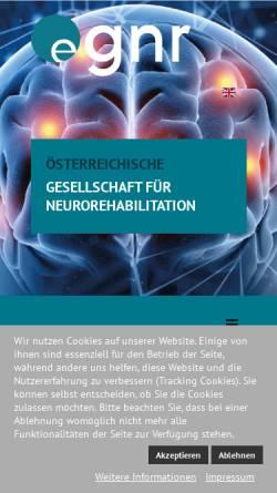 Vorschau der mobilen Webseite www.neuroreha.at, Österreichische Gesellschaft für Neurorehabilitation