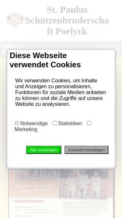 Vorschau der mobilen Webseite poelyck.de, St. Paulus Bruderschaft Poelyck e.V.